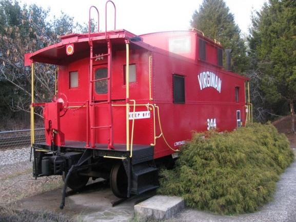 Old Train Car at the Chamber of Commerce Altavista Va
